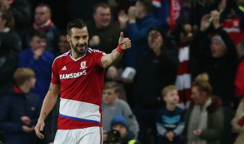 Álvaro Negredo celebra un gol con el Middlesbrough/ Reuters