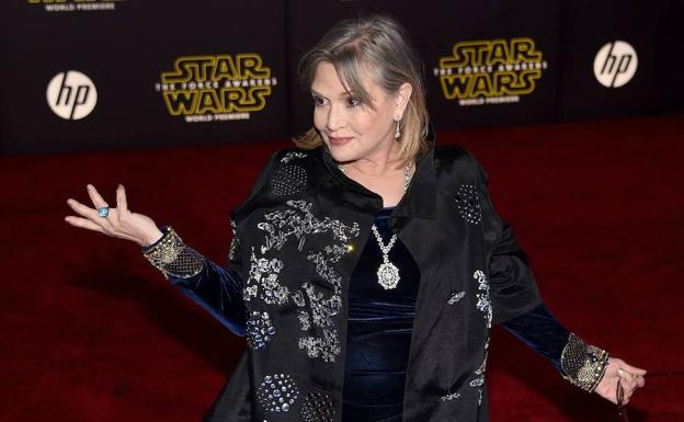 Carrie Fisher, en invierno de 2015.