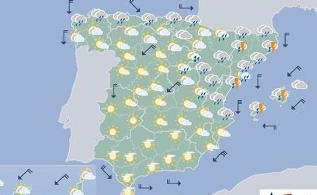 El tiempo en valencia alicante y castell n olas de 3 metros tormentas y ca da brusca de - El tiempo torreblanca castellon ...
