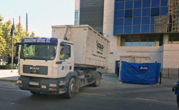 Un camión en una imagen de archivo.