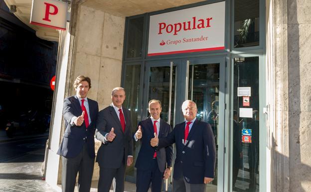 Santander inicia la integraci n con popular con beneficios for Oficinas banco santander valencia