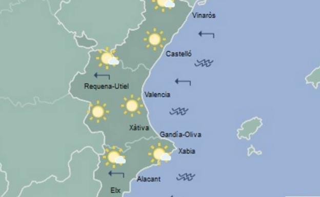 El Tiempo En Valencia Alicante Y Castellón Mañana Seguirán Aumentando Las Máximas Especialmente En El Interior Las Provincias