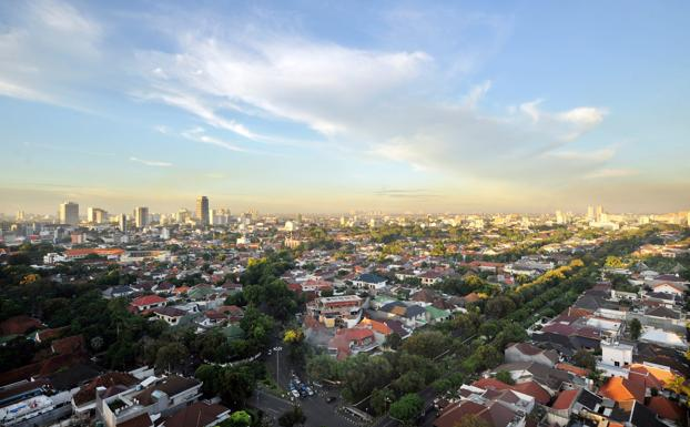Vista general de la ciudad de Yakarta (Indonesia)./Adek Berry (Afp)