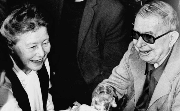 Simone de Beauvoir y Jean-Paul Sartre.
