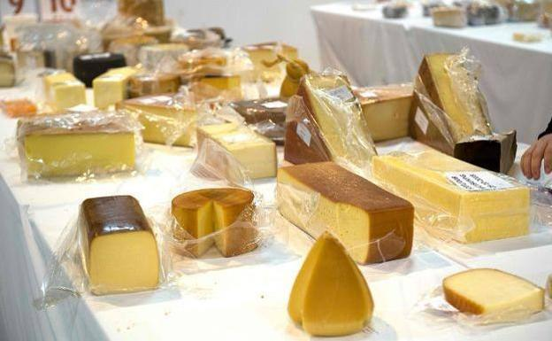 Quesos catados durante los World Cheese Awards.
