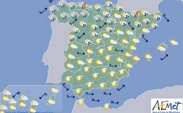 Mapa Del Tiempo España Fin De Semana.Aemet Prevision Del Tiempo Para El Fin De Semana En Toda