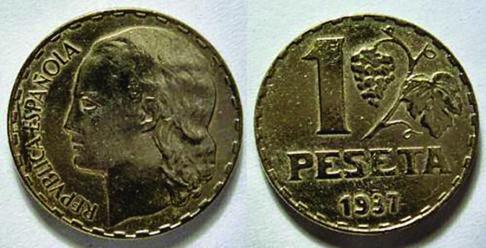 La peseta de las uvas de 1937.
