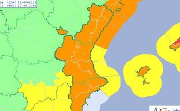 Las localidades donde más ha llovido esta noche