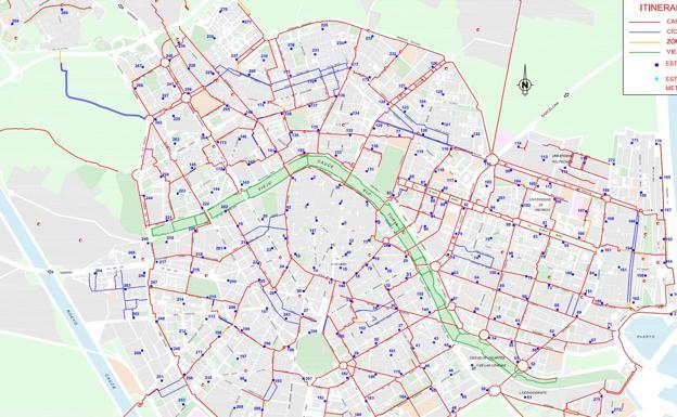 Carril Bici Sevilla Mapa.Asi Sera El Nuevo Carril Bici De Primado Reig En Valencia Las Provincias