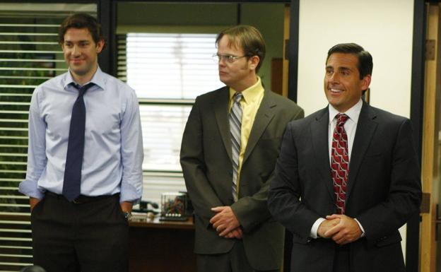 John Krasinski, Rainn Wilson y Steve Carell.