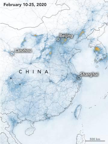 Febrero: El mismo mapa, limpio tras el parón por la pandemia.