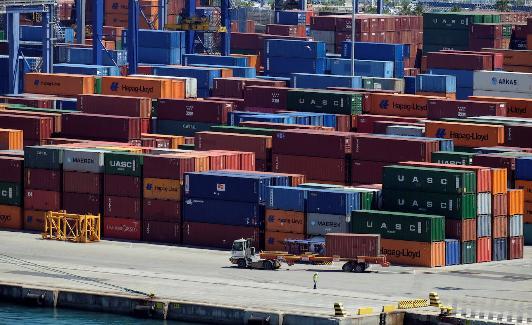 Contenedores de mercancías en el puerto de Valencia. Reuters/Heino Kalis/