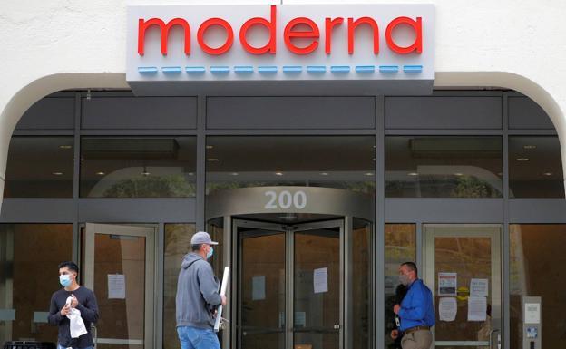 Sede de la farmacéutica Moderna, en Cambrige (EE UU)./Reuters