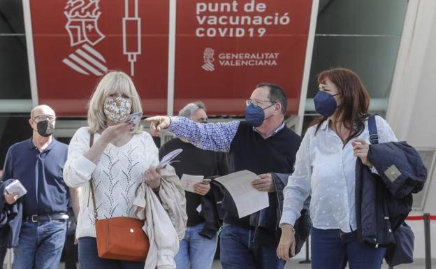 Centro de vacunación en Valencia./EP