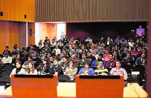 Asistentes al Congreso 'Gandia Game Meeting', en el Campus de Gandia. ::                              LP/